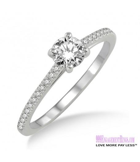 Diamond Engagement Ring LM-1119-WG 1/2 Carat