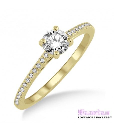 Diamond Engagement Ring LM-1119-YG 1/2 Carat