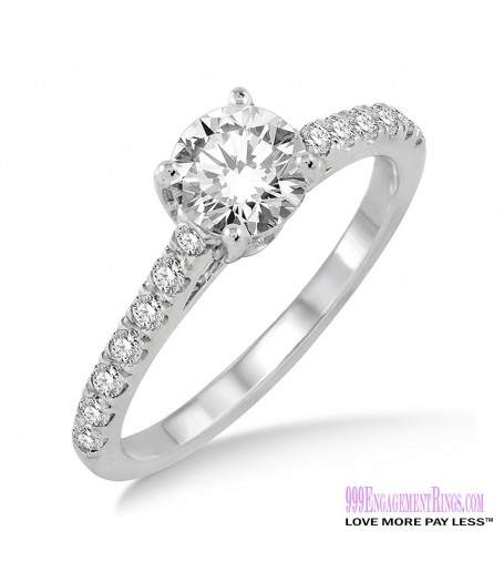 Diamond Engagement Ring LM-1120-WG 3/4 Carat
