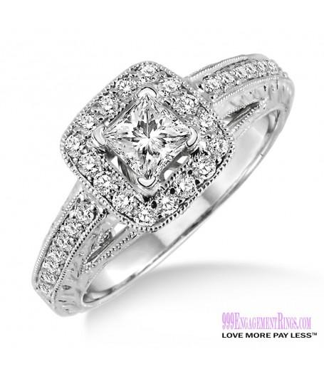 Diamond Engagement Ring LM-1122-WG 5/8 Carat