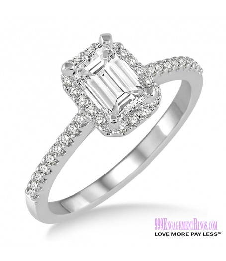Diamond Engagement Ring LM-1123-WG 5/8 Carat