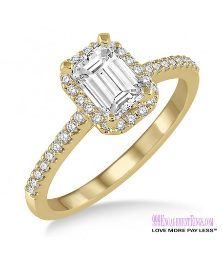 Diamond Engagement Ring LM-1123-YG 5/8 Carat