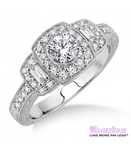 Diamond Engagement Ring LM-1124-WG 3/4 Carat