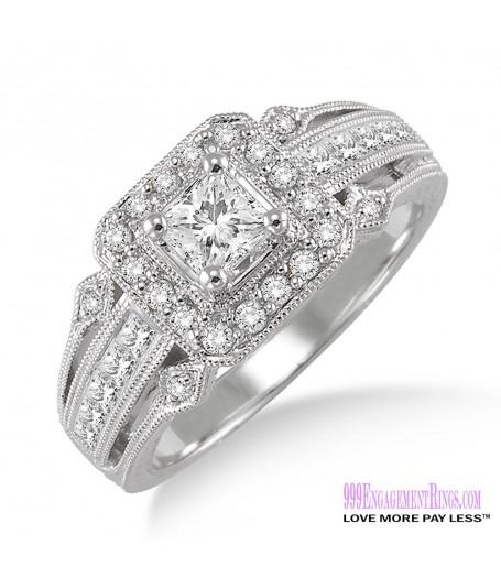 Diamond Engagement Ring LM-1125-WG 3/4 Carat
