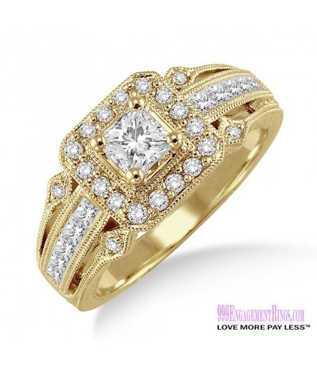 Diamond Engagement Ring LM-1125-YG 3/4 Carat