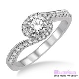 Diamond Engagement Ring LM-1126-WG 1/2 Carat