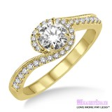 Diamond Engagement Ring LM-1126-YG 1/2 Carat