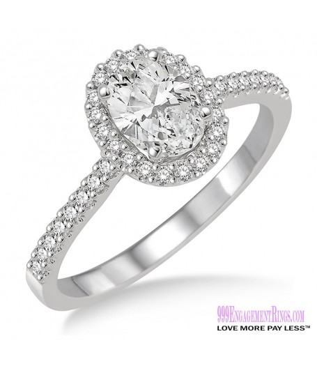 Diamond Engagement Ring LM-1127-WG 5/8 Carat