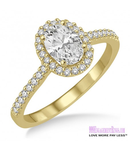 Diamond Engagement Ring LM-1127-YG 5/8 Carat