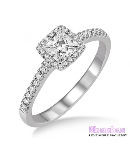 Diamond Engagement Ring LM-1129-WG 1/2 Carat