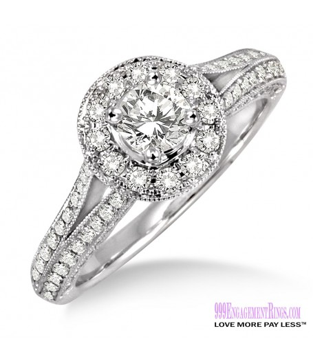 Diamond Engagement Ring LM-1131-WG 7/8 Carat