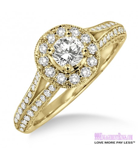 Diamond Engagement Ring LM-1131-YG 7/8 Carat