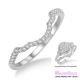 Diamond Wedding Band LM1100WG-WB 1/10 Carat