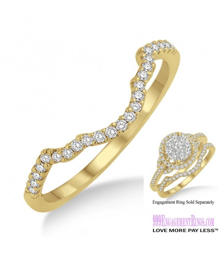 Diamond Wedding Band LM1100YG-WB 1/10 Carat