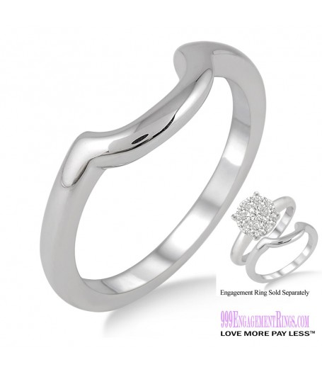 White Gold Wedding Band LM1104WG-WB
