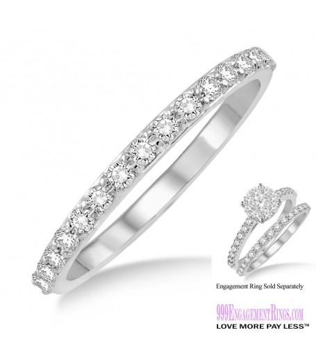Diamond Wedding Band LM1106WG-WB 1/3 Carat