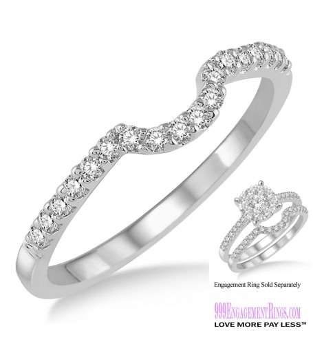 Diamond Wedding Band LM1107WG-WB 1/5 Carat