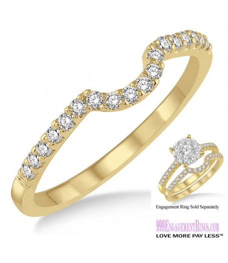 Diamond Wedding Band LM1107YG-WB 1/5 Carat