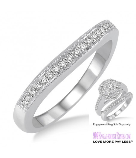 Diamond Wedding Band LM1108WG-WB 1/6 Carat