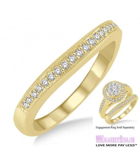 Diamond Wedding Band LM1108YG-WB 1/6 Carat
