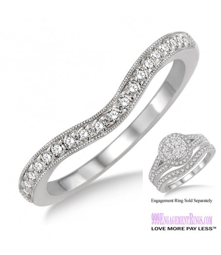 Diamond Wedding Band LM1109WG-WB 1/5 Carat