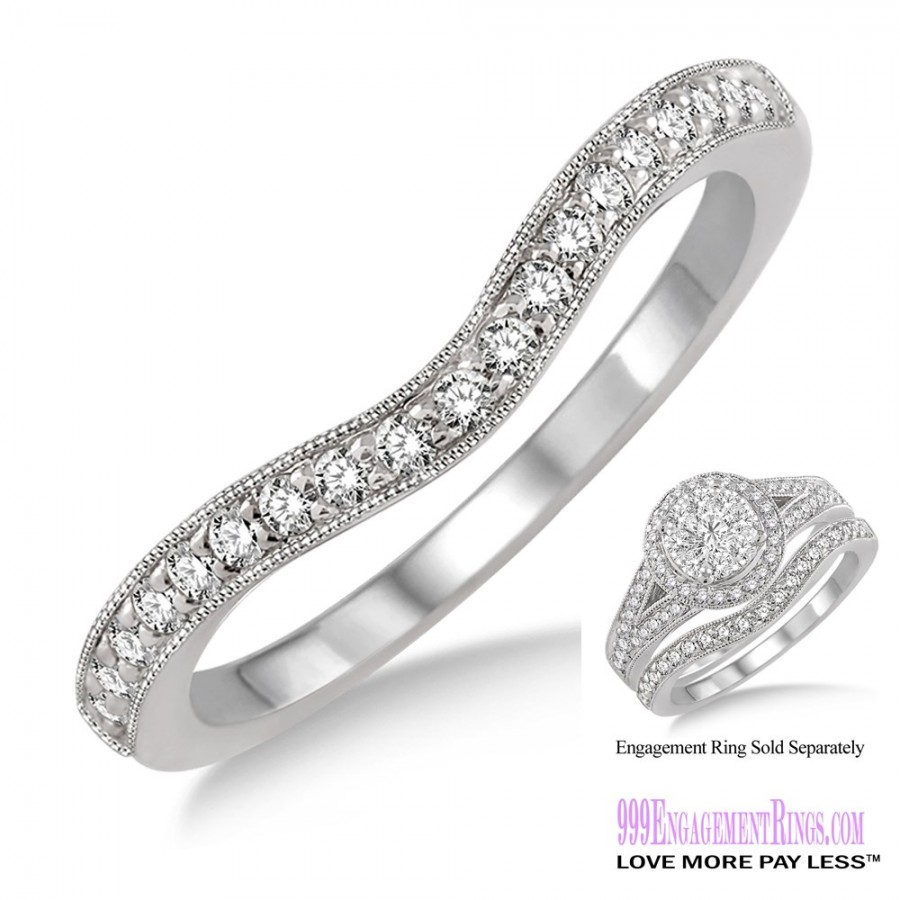 Wedding Bands For Less: Diamond Wedding Band LM1109WG-WB 1/5 Carat