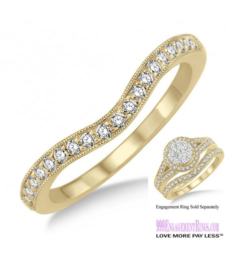 Diamond Wedding Band LM1109YG-WB 1/5 Carat