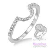 Diamond Wedding Band LM1111WG-WB 1/4 Carat