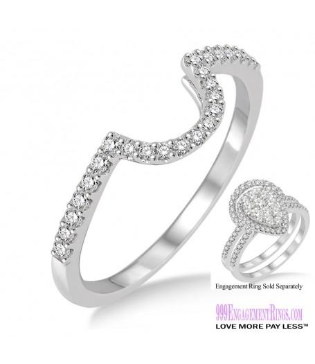 Diamond Wedding Band LM1111WG-WB 1/4 Carat