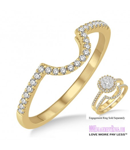 Diamond Wedding Band LM1113YG-WB 1/5 Carat