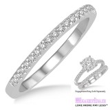 Diamond Wedding Band LM1115WG-WB 1/4 Carat