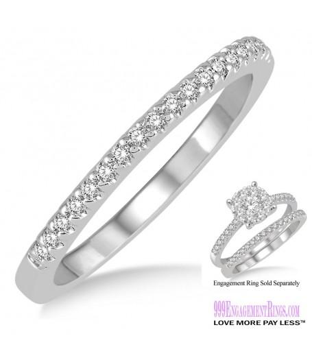 Diamond Wedding Band LM1115WG-WB 1/4 Carat