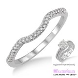 Diamond Wedding Band LM1116WG-WB 1/10 Carat
