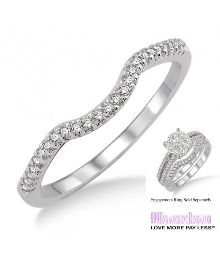 Diamond Wedding Band LM1116WG-WB 1/10 Carat