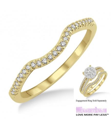 Diamond Wedding Band LM1116YG-WB 1/10 Carat