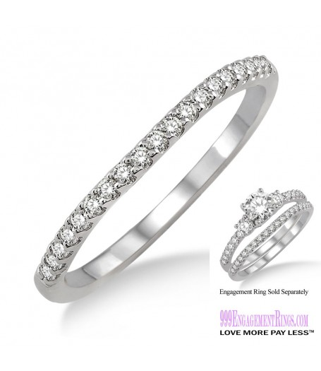 Diamond Wedding Band LM1117WG-WB 1/5 Carat