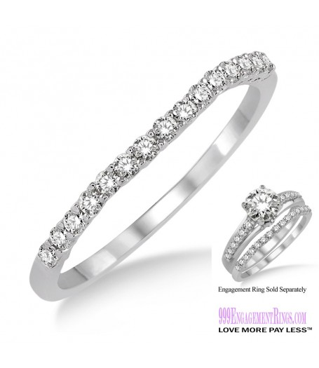 Diamond Wedding Band LM1118WG-WB 1/6 Carat