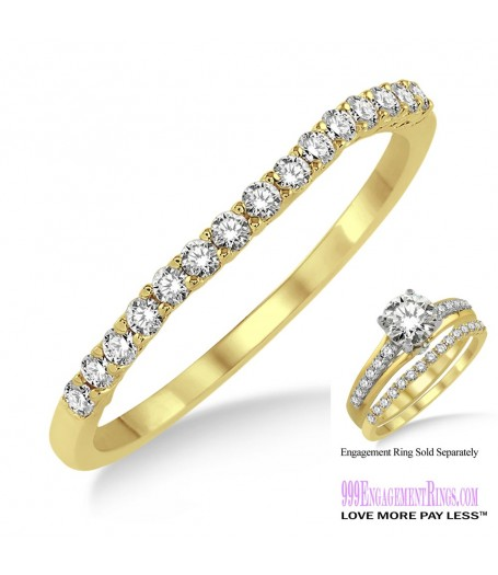 Diamond Wedding Band LM1118YG-WB 1/6 Carat