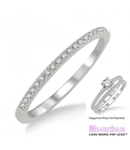 Diamond Wedding Band LM1119WG-WB 1/10 Carat