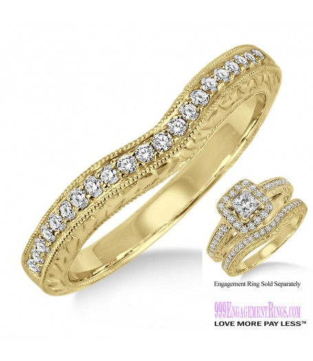 Diamond Wedding Band LM1122YG-WB 1/5 Carat