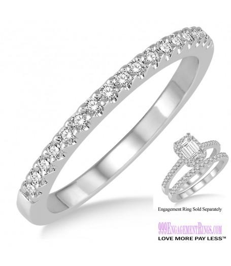 Diamond Wedding Band LM1123WG-WB 1/6 Carat