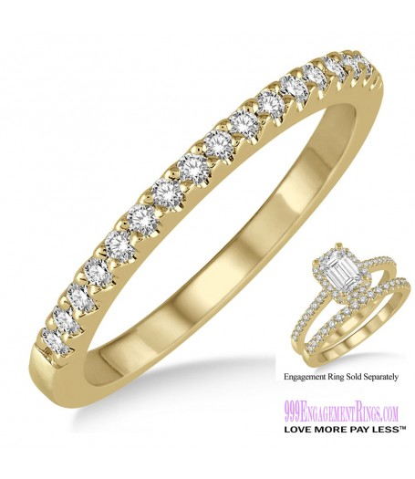 Diamond Wedding Band LM1123YG-WB 1/6 Carat