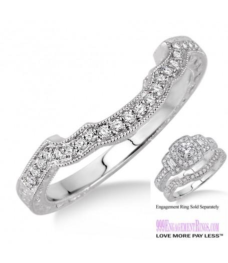 Diamond Wedding Band LM1124WG-WB 1/6 Carat