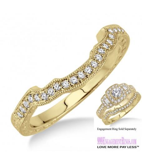Diamond Wedding Band LM1124YG-WB 1/6 Carat