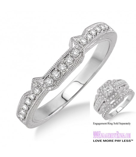 Diamond Wedding Band LM1125WG-WB 1/6 Carat
