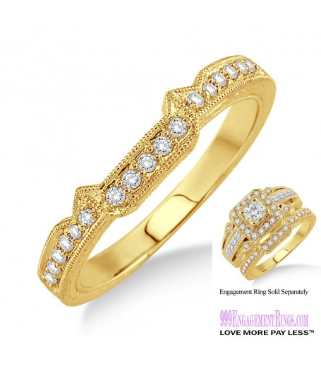 Diamond Wedding Band LM1125YG-WB 1/6 Carat