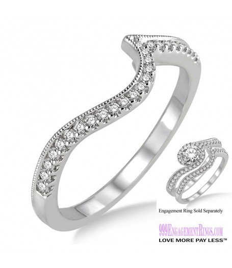 Diamond Wedding Band LM1126WG-WB 1/6 Carat
