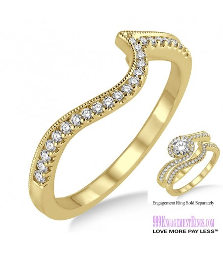 Diamond Wedding Band LM1126YG-WB 1/6 Carat