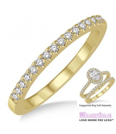 Diamond Wedding Band LM1127YG-WB 1/6 Carat