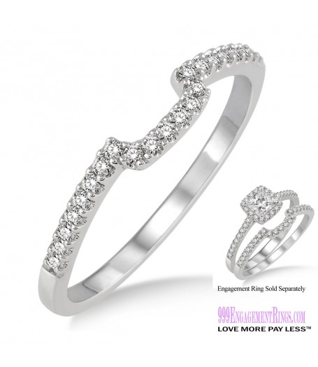 Diamond Wedding Band LM1129WG-WB 1/6 Carat